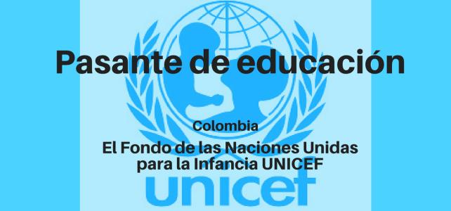 Pasantía en Educación con UNICEF