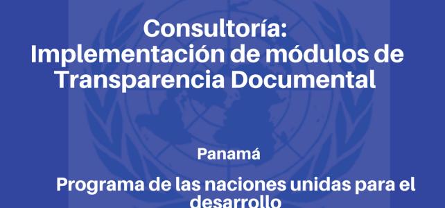Consultoría para la implementación de módulos de Transparencia Documental con ONU