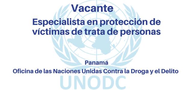 Especialista en Protección de Víctimas de Trata de Personas (PNUD)
