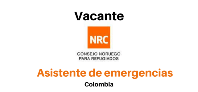 Convocatoria  – Asistente Emergencias con NRC