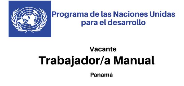 Convocatoria Trabajador/a Manual (PNUD)
