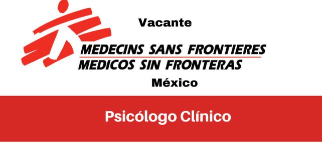 Vacante Psicólogo Clínico MSF