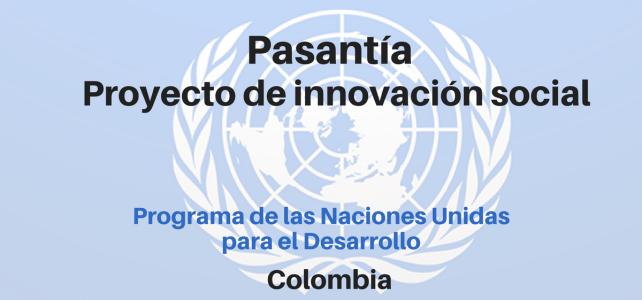Pasante proyecto laboratorio de innovación social PNUD