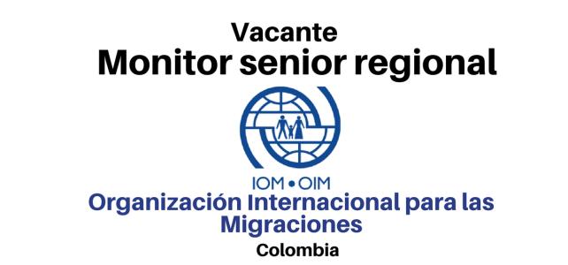 Vacante Monitor senior regional con la OIM