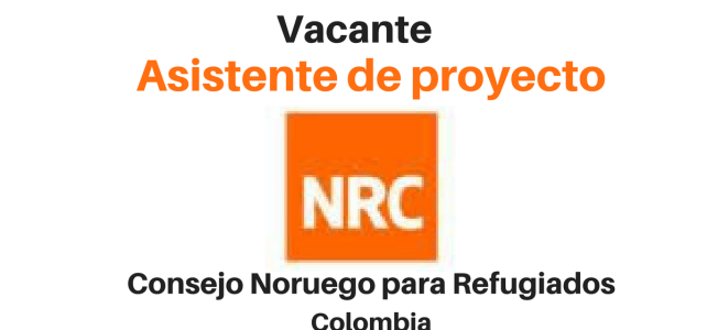 Vacante asistente de proyecto con NRC
