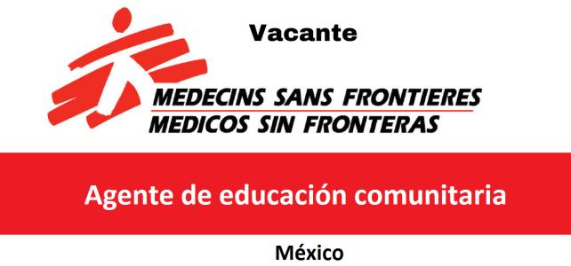 Vacante Agente de educación comunitaria con MSF