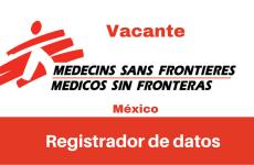 Vacante Registrador de datos con MSF