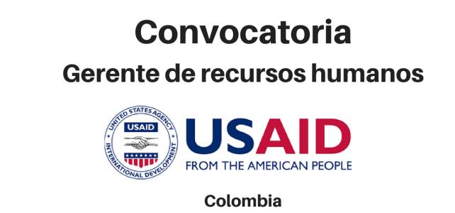 Convocatoria Gerente de Recursos Humanos USAID