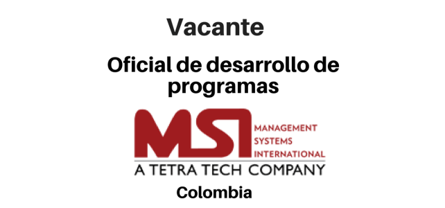 Vacante Oficial de Desarrollo de Programas MSI