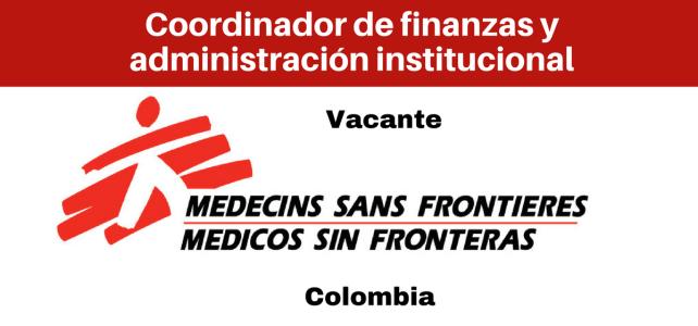 Vacante Coordinador de finanzas y administración con MSF