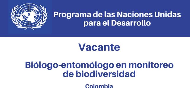 Vacante Biólogo-Entomólogo en Monitoreo de Biodiversidad PNUD