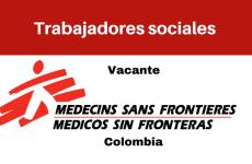 Vacante Trabajadores sociales con MSF