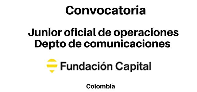 Vacante Oficial de Operaciones Fundación Capital