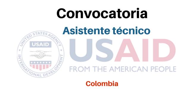 Vacante Asistente técnico USAID