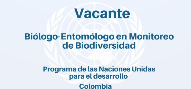Vacante Biólogo-Entomólogo en Monitoreo de Biodiversidad