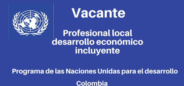 Vacante Profesional Local Desarrollo Económico Incluyente