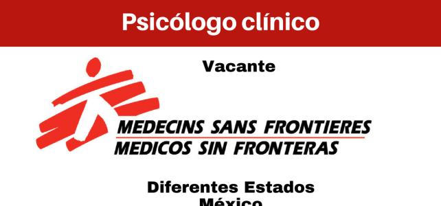 Vacante Psicólogo(a) con MSF