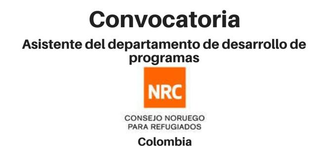 Convocatoria area de Desarrollo de Programas NRC