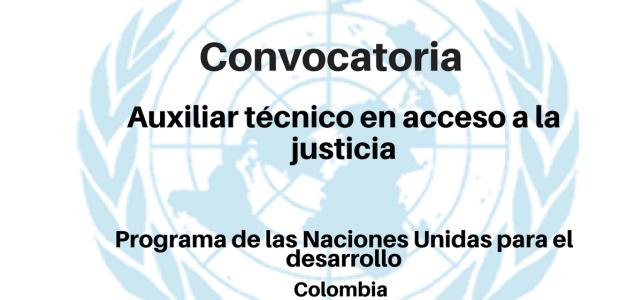 Convocatoria auxiliar técnico en Acceso a la Justicia con el PNUD
