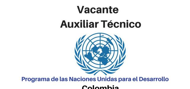 Convocatoria laboral con el PNUD en Colombia