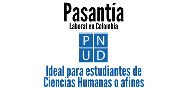 Pasantía laboral con el PNUD en Colombia