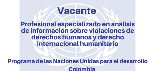 Convocatoria abierta con el Programa de Naciones Unidas para el Desarrollo