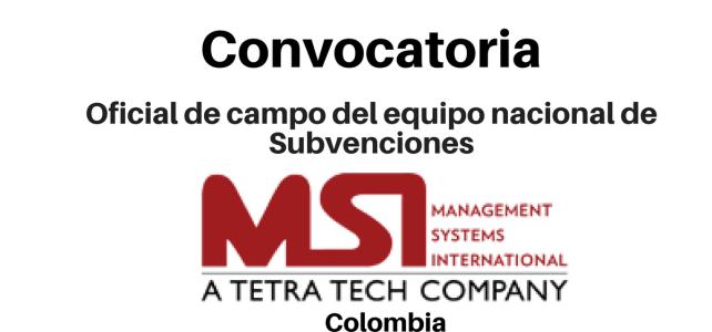 Convocatoria Oficial de campo del equipo nacional de Subvenciones MSI