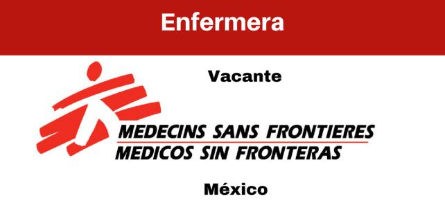Vacante Enfermera/o con MSF