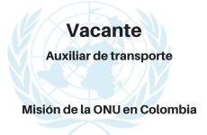 Vacante Auxiliar de transporte con la ONU
