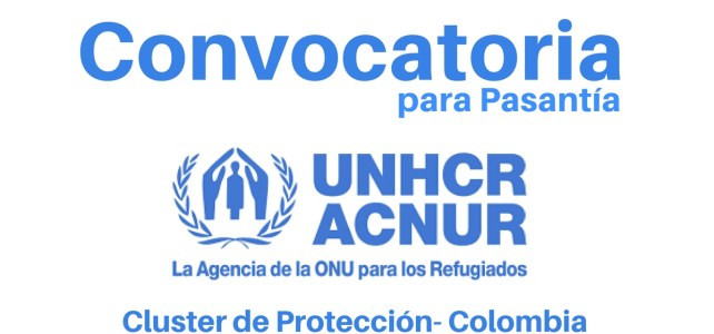 Convocatoria para pasantía Clúster de Protección con ACNUR