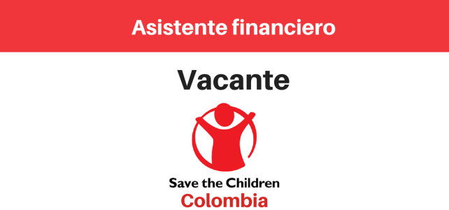 Vacante Asistente financiero Save the Children