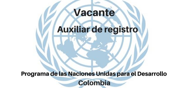 Vacante Auxiliar de Registro con Naciones Unidas