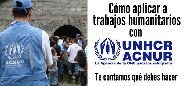 Cómo aplicar a trabajos humanitarios con UNHCR – ACNUR