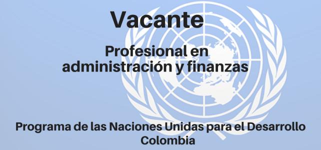Vacante Profesional en administración y finanzas PNUD