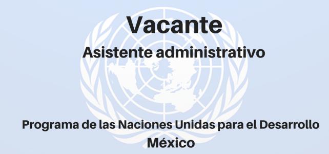 Vacante Asistente administrativo PNUD