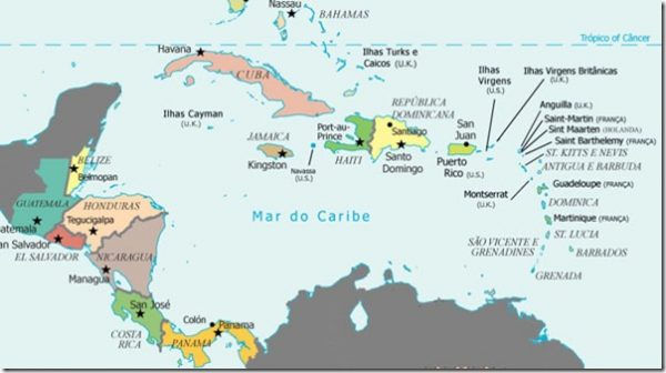 → Mapa da América Central: Conheça Todos os Países da América ...