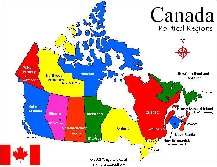 mapa do canada → Mapa do Canadá: Conheça Todas as Regiões do Canadá  mapa do canada