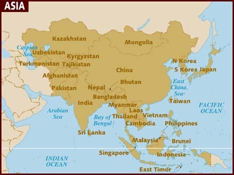 mapa da asia → Mapa da Ásia: Conheça os Principais Países da Ásia mapa da asia