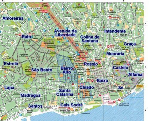 lisboa bairros mapa → Mapa de Lisboa: Conheça Todas as Regiões de Lisboa lisboa bairros mapa
