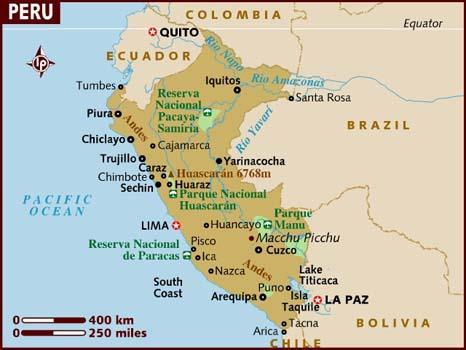 mapa do peru com cidades → Mapa do Peru Cidades: Conheça as Regiões do Peru mapa do peru com cidades