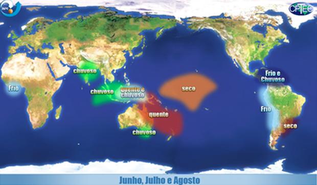 Efeitos do La Niña (Foto: Climatologia UFF)