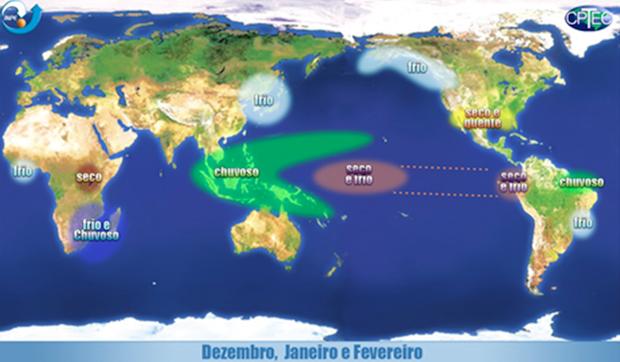 La Niña: efeitos no mundo (Foto: Climatologia UFF)