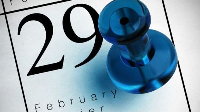 Data do ano bissexto, 29 de fevereiro.