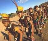 Kuarup: índios do Alto Xingu homenageiam os mortos (Crédito Mario Vilela - Funai)