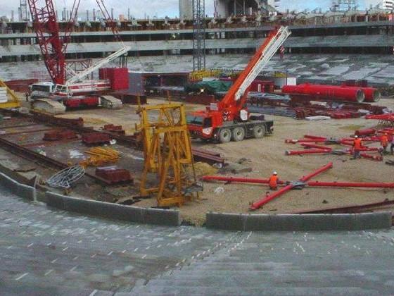 Novo Estádio da Luz - Construção