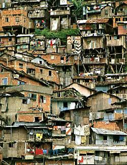 Habitação encontrada no mundo subdesenvolvido.