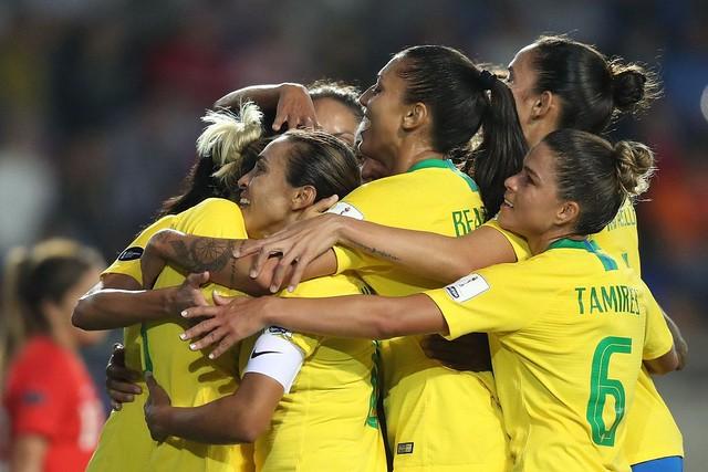 Pela primeira vez, as atletas da Seleção Feminina vestem um uniforme com identidade própria - Créditos: Lucas Figueiredo/CBF