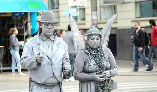estátuas vivas