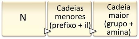 Regras de nomenclatura para aminas secundárias