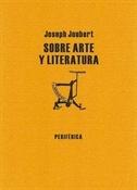Sobre arte y literatura (Joseph Joubert)-Trabalibros